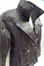 Maurices Womens Leather Jacket Black Motorcycle Biker Small