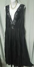 VENTURA ANKLE LENGTH  SEXY BLACK LACE NYLON NIGHTGOWN SIZE 5X GIFT