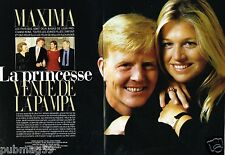 Coupure de Presse Clipping 2002 (6 pages) Prince Willem Alexander et Maxima