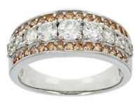 Size 10- Bella Luce 2.46ctw Champagne & White Diamond Simulants Sterling Ring
