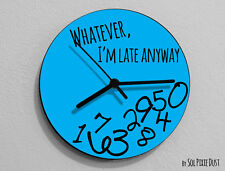 Whatever I'm Late Anyway / Round Blue - Wall Clock