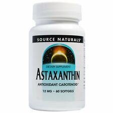 Astaxanthin 12mg by Source Naturals Antioxidant Carotenoid - 60 Softgels