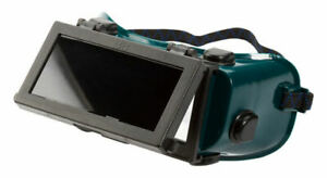 """Wide Vision Flip Up Front Gas Welding Goggles 4"""" x 2"""" Lenses Shade 5 Cutting"""