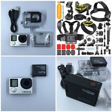 GoPro HERO4 Camcorder CHDHX-401 Black+16GB Card+Huge Lot of New Extras