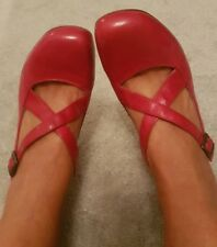 Topshop Heels Size 6 Ladies Shoes Deep Pink  Leather Strappy On Trend
