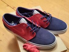 Nike Zoom Stefan Janoski Sz 10.5 Deep Royal Blue University Red QS SB NIB