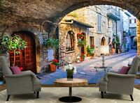 Charming Old Street of Italy   Photo Wallpaper Wall Mural DECOR Paper Poster