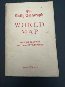 DAILY TELEGRAPH WORLD MAP 1956