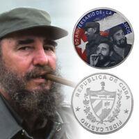 WR Fidel Castro Custom Color Silver Commemorative Coins for Collectors