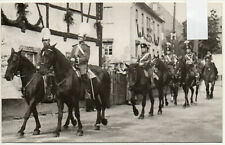 AK Borstendorf Umzug zu Pferde ca. 1935