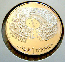 TUNISIA 1969 1 DINAR COLLOSEUM / STADIUM SILVER PROOF 40MM DIAMETER
