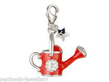 Tingle Rojo Regadera plata esterlina encanto con caja de regalo y bolsa SCH13
