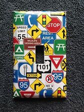 ROAD SIGNS LIGHT SWITCH COVER PLATE GARAGE HIGHWAY MAN CAVE