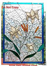 LILY PANEL WINDOW CLING STAINED GLASS EFFECT SUN CATCHER DECAL MOTIF DECORATION