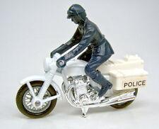 Matchbox Superfast Nr. 33C Police Motorcycle weiß schwarzblauer Fahrer