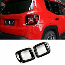 For Jeep Renegade 2015-2018 Black ABS Car Rear Tail Light Lamp Cover Trim Bezel