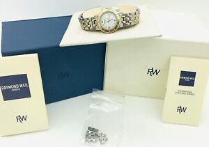 Raymond Weil Tango Ladies Two Tone Bracelet Watch w/ Sapphire Crystal + BOX|5360