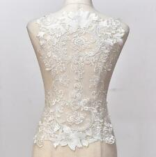 Flower Cotton Embroidered Lace Motifs For Wedding Dress Sewing on Applique Craft