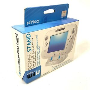 New! Power Stand Wii U GamePad Controller/ Store & Rapidly Charge By Nyko White