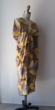 Marni Multi-color Floral Printed Ruffle Detailed Cotton Midi Dress Sz 38