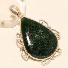 Sterling Silver Fine Jewelry Gift Natural Brazilian Green Aventurine Pendant 925