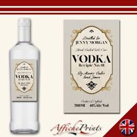 L167 Personalised Speakeasy Vintage Unique Style Vodka Custom Bottle Label Gift