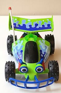 "Toy Story RC Free Wheel Buggy 10"" Car Green & Blue Disney Pixar Mattel 2018"