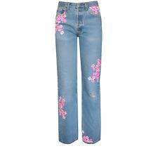 RIALTO JEAN PROJECT $450 tokyo cherry blossom flower Levi's 501 boyfriend 30 NEW
