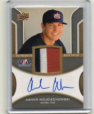 2009 Upper Deck USA Prospect Asher Wojciechowski Autograph Patch Card 10/25 Auto