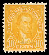 Scott 562 1923 10c Monroe Perforated 11 Flat Plate Issue Mint F-VF NH Cat $30