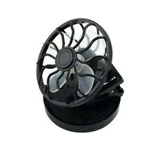 New energy saving Clip-on Solar Cell Fan Sun Power energy Panel Cooling Black UL
