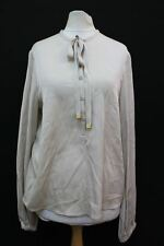 DIANE VON FURSTENBERG Ladies Ivory Button Up Silk Blend Blouse Top US6 UK10