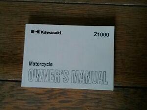 KAWASAKI  ZR1000 A3 OWNERS MANUAL/HANDBOOK/BOOKLET