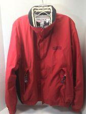 VINTAGE NOS NEW Nautica Competition Men's Medium Windbreaker Red Full Zip Jacket