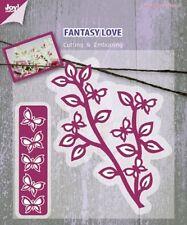 Nueva Joy Crafts Troquelado & Gofrado Stencils Rama Con Mariposas - 6002/0407