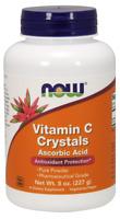 NOW FOODS Vitamin C Crystals (Ascorbic Acid) - 227g Vegan, SHIPPING WORLDWIDE