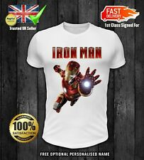 Iron Man T Shirt Avenger Iron Man Birthday Gift Unisex MENS WOMENS Tee Top