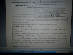 Medizinische Fachangestellte (MFA) Ausbildungsnachweis  Berichtsheft Word-Datei