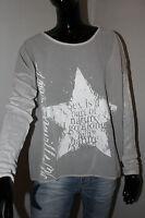 Made in Italy  Bluse Tunika Pulli Batik Shirt Gr. S M L Grau weiß Oversized
