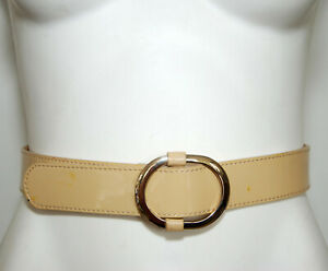 JIGSAW Nude Patent Leather Women's Belt Size Extra Small - XS - RRP$79.00