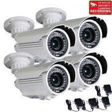 4x 700TVL Security Cameras w/ SONY Effio CCD IR Outdoor Day Night Zoom Lens wg5