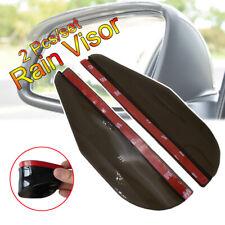 2 Pcs Side Rear Mirror Visor Car Accessories Rain Snow Guard Black Eyebrow