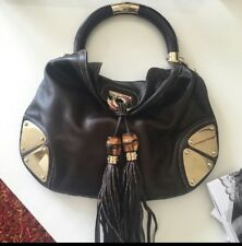 Beautiful Gucci Indy Hobo Medium Brown  Leather Bag $3300