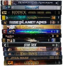 Lot Of 14 Sci-Fi & Fantasy Dvds Lord Of The Rings Planet Of The Apes Star Wars