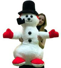 American Made Giant Stuffed Snowman 3 feet Tall Big Plush Made in the USA