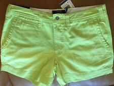 POLO RALPH LAUREN WOMEN'S CHINO Color Lime SHORTS sz 8 NWT $ 89.50 Authentic