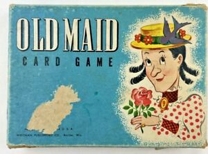 Rare! VINTAGE 1940's WHITMAN OLD MAID CARD GAME COMPLETE #2996 Complete 2 Decks