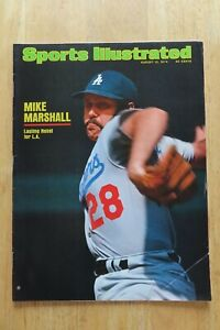 MIKE MARSHALL Sports Illustrated 8-12-1974 Magazine LOS ANGELES DODGERS No Label