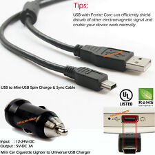 Usb 2.0 A to Mini B 5 Pin Data Usb Car Charger Sync Cable 10Ft For Mp3 Mp4 Gps