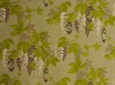 "SHABBY CHIC FABRIC ""SAMSARA SAPLING"".FABRIC by ROMO.GREEN FLORAL LINEN 5.8 Mtrs."